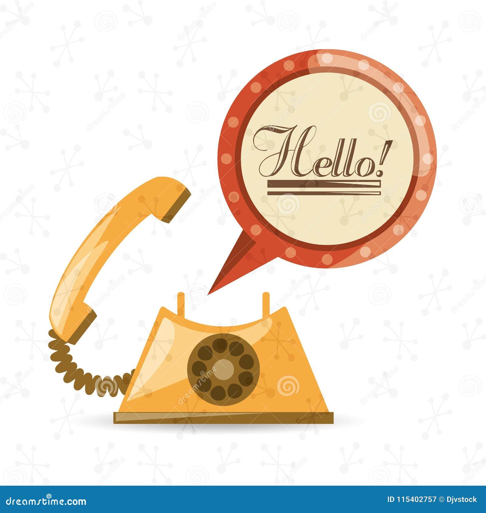 Telefone retro a chamar e falar