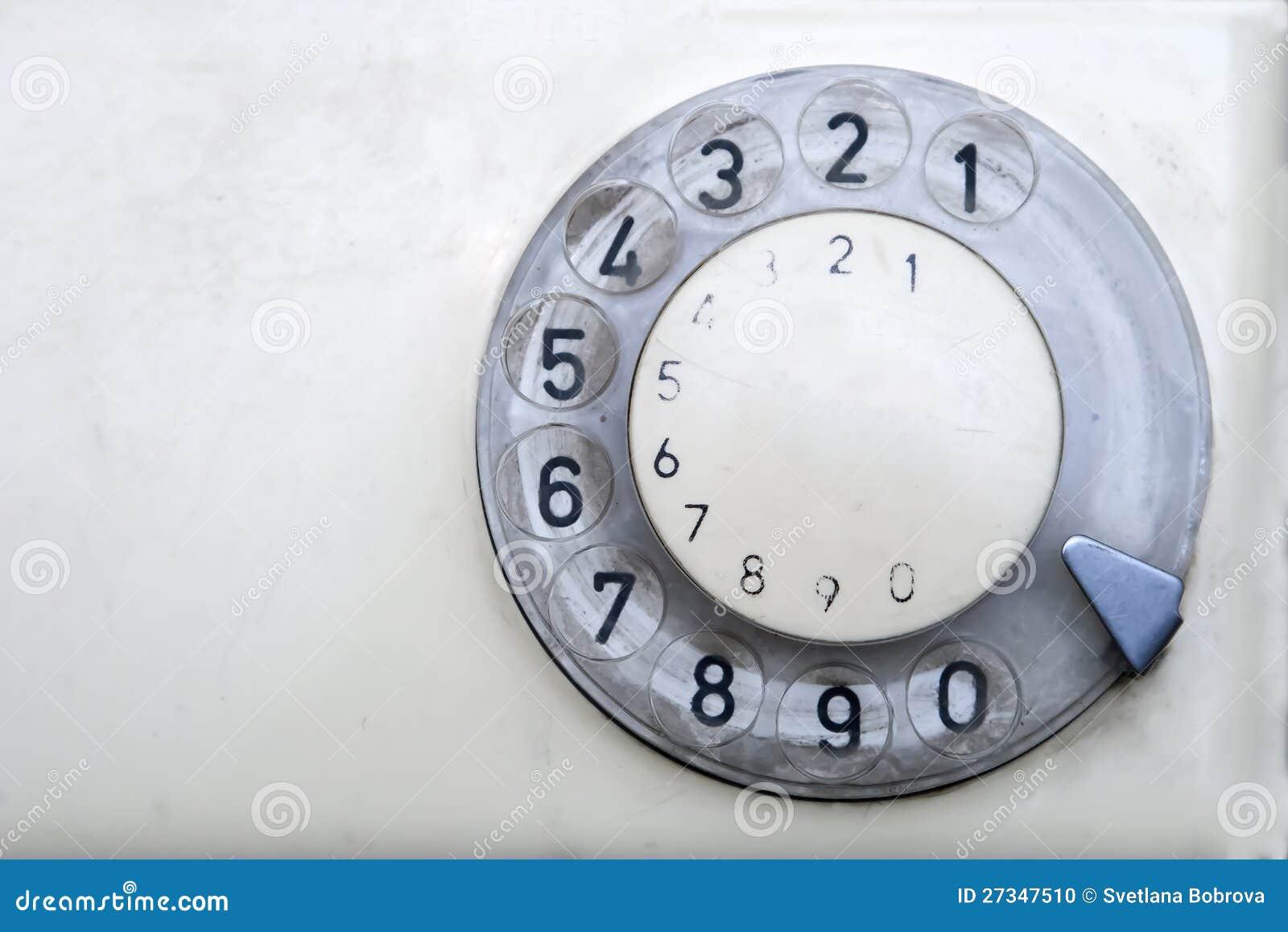 Telefone velho com disco do seletor