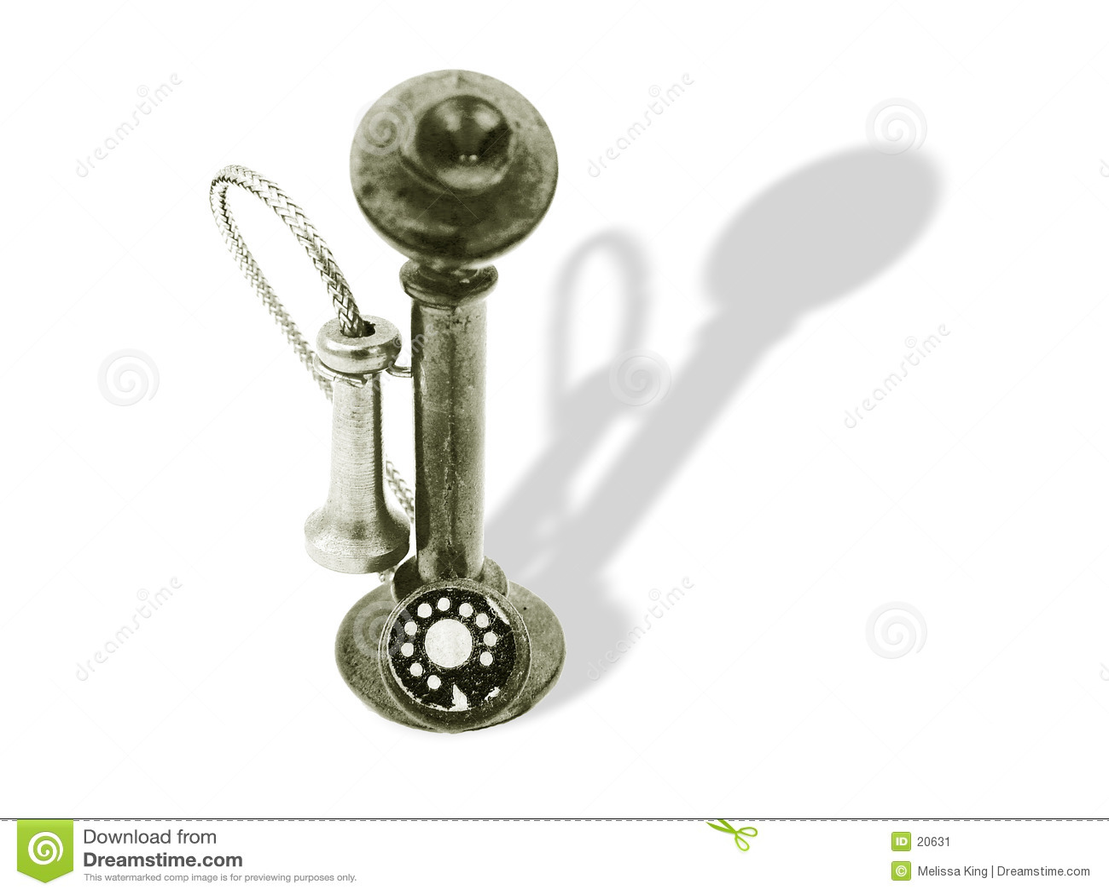 Telefone velho da forma