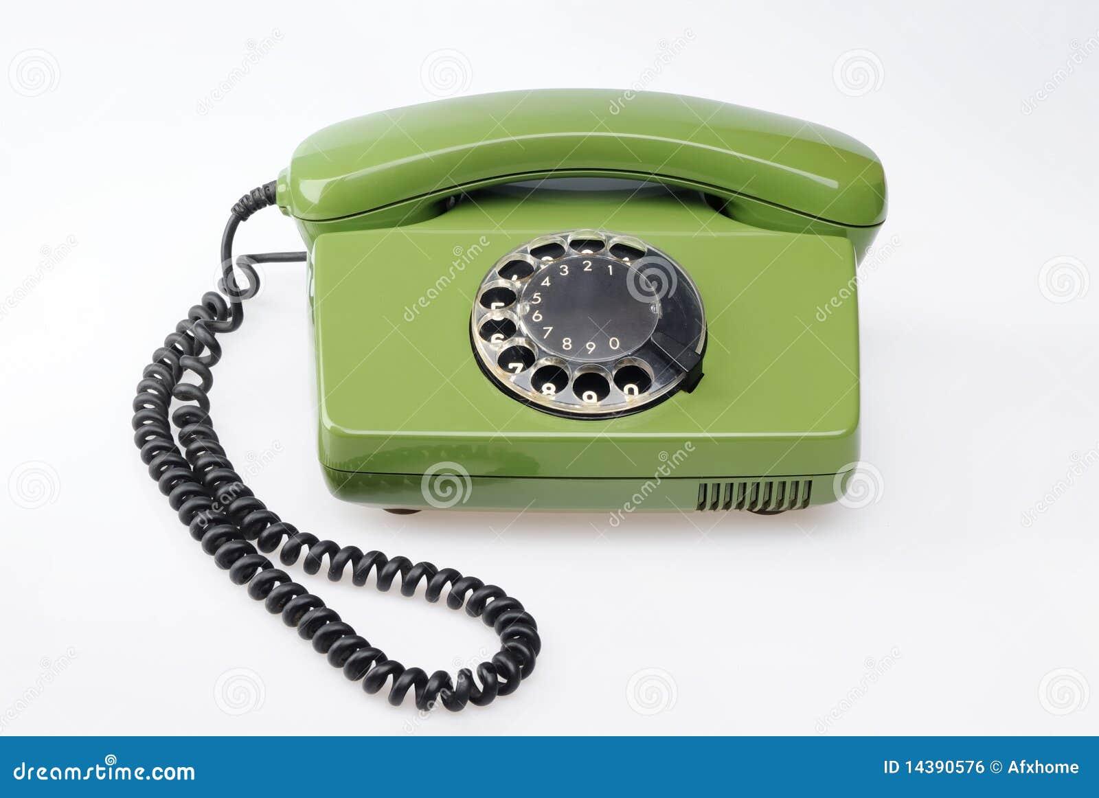 Telefone verde do vintage
