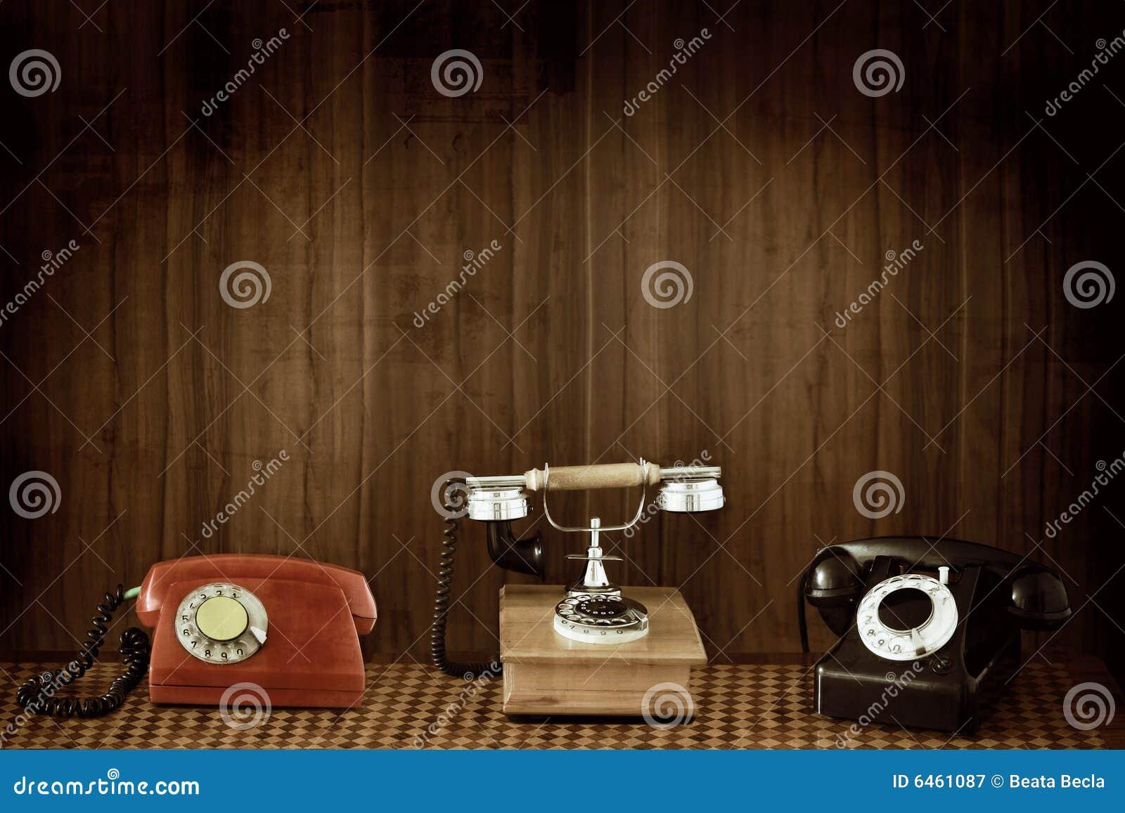 Telefones velhos