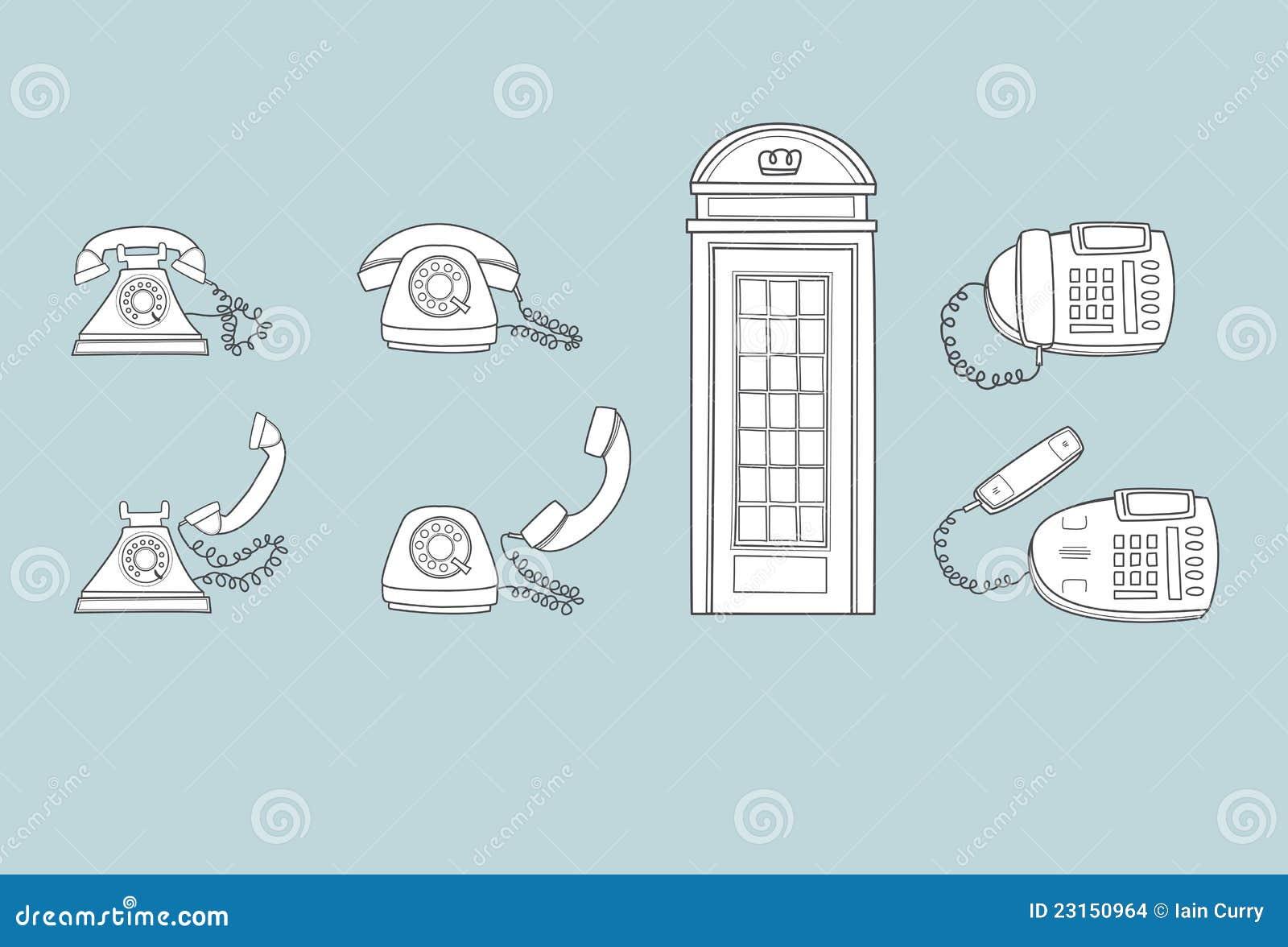 Telefoni vecchi e nuovi immagini stock immagine 23150964 for Nuovi vecchi piani domestici