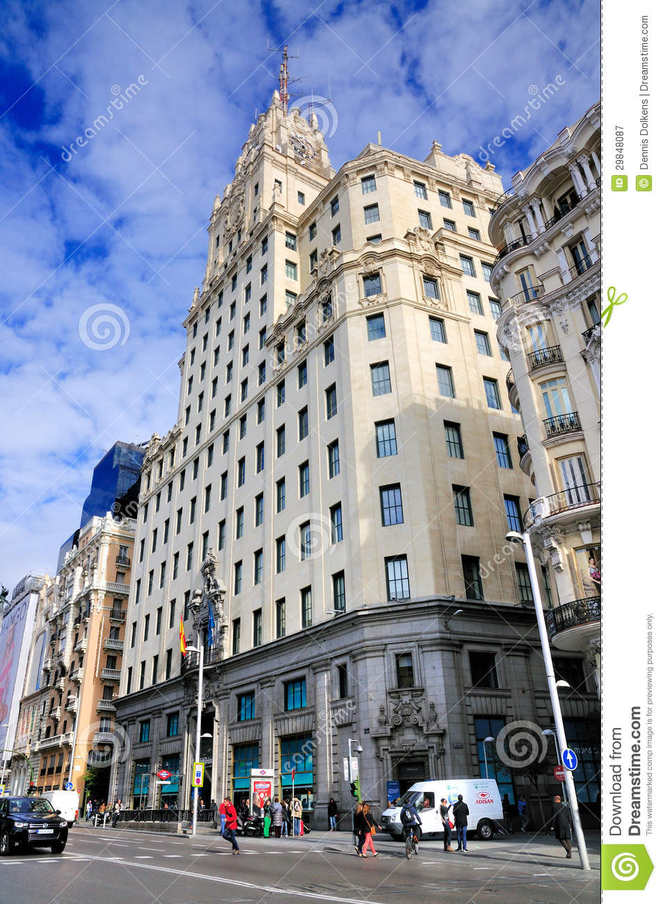 telefonica building in downtown madrid editorial