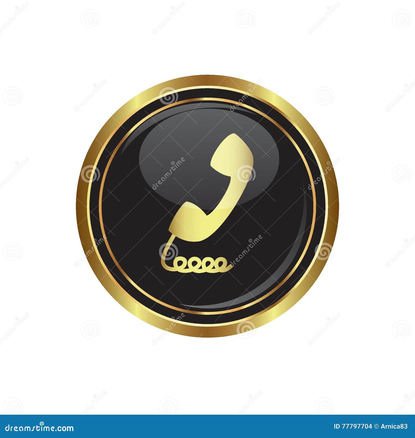 Telefonicznego odbiorcy ikona na guziku