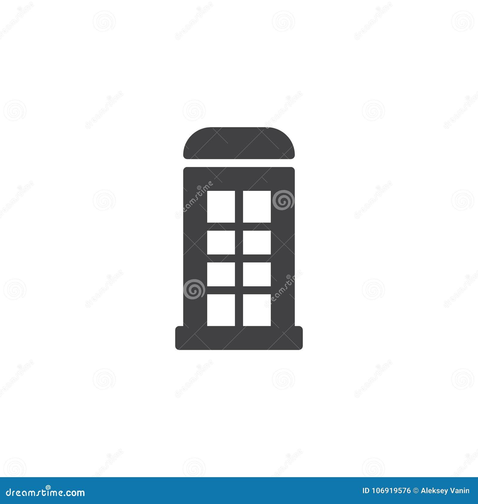 Telefonicznego pudełka ikony wektor