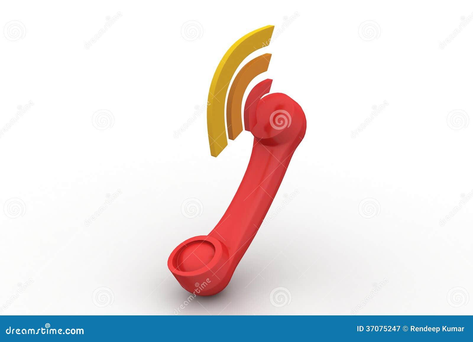 Download Telefoniczny Handset Z Dźwięka Sygnałem Ilustracji - Ilustracja złożonej z officemates, operator: 37075247