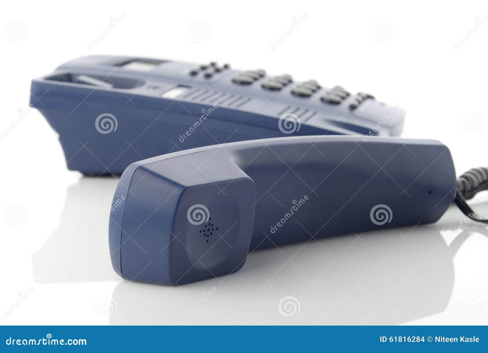 Telefoniczny odbiorca Nad bielem