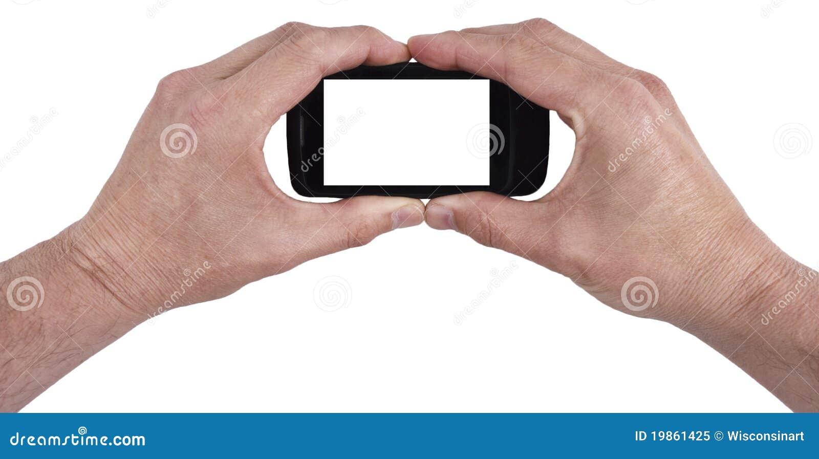 Telefono astuto isolato, il vostro testo delle cellule mobili qui