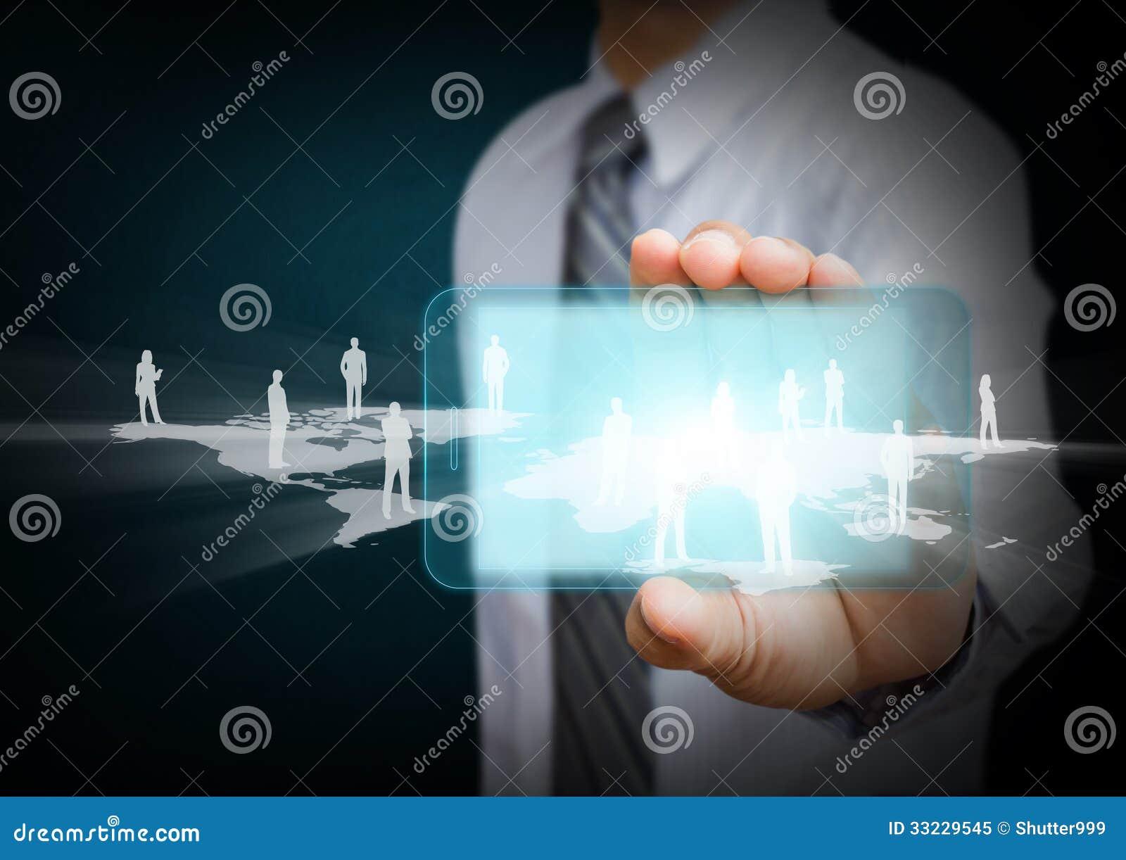 Telefono cellulare con il concetto di comunicazione