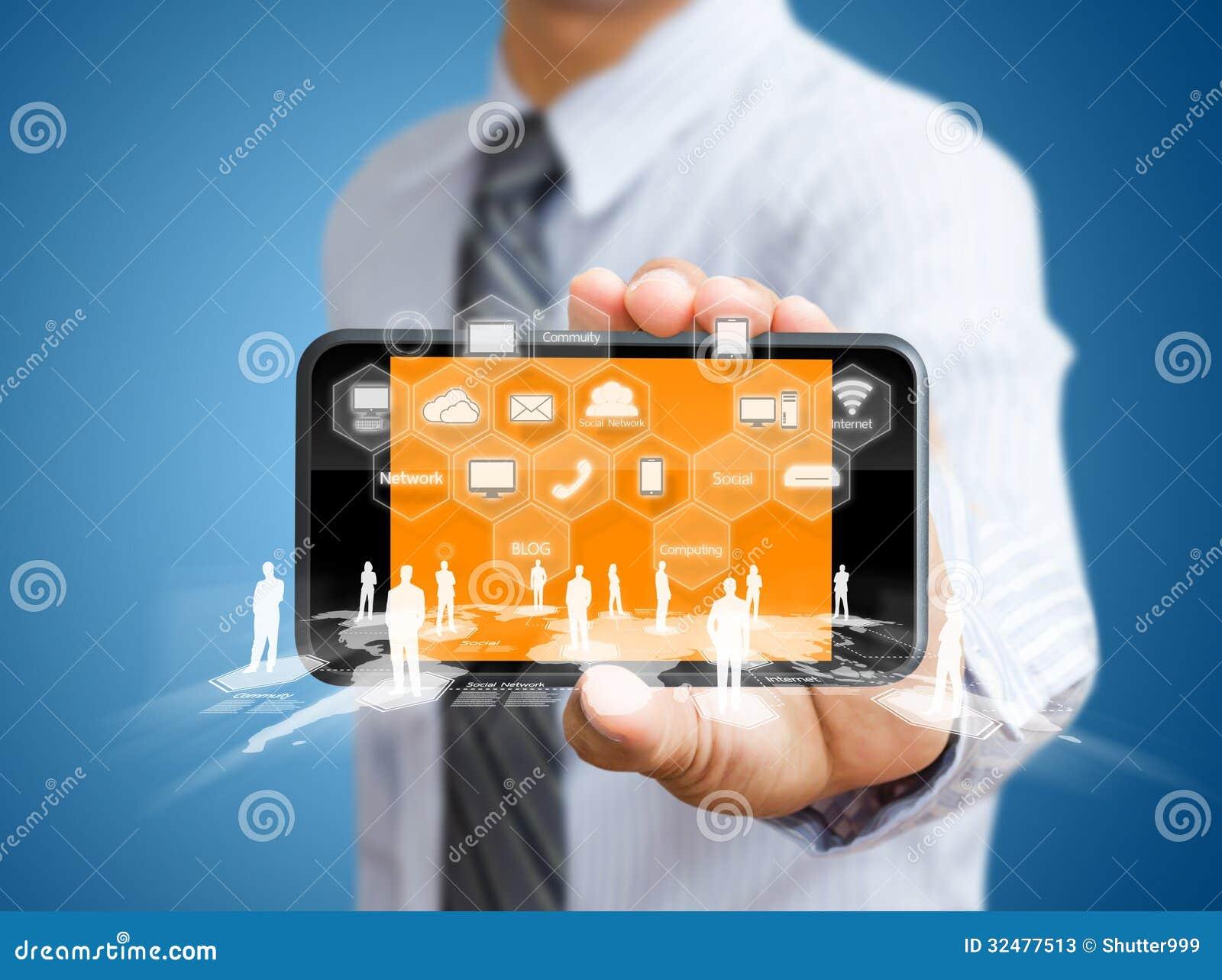 Telefono cellulare del touch screen