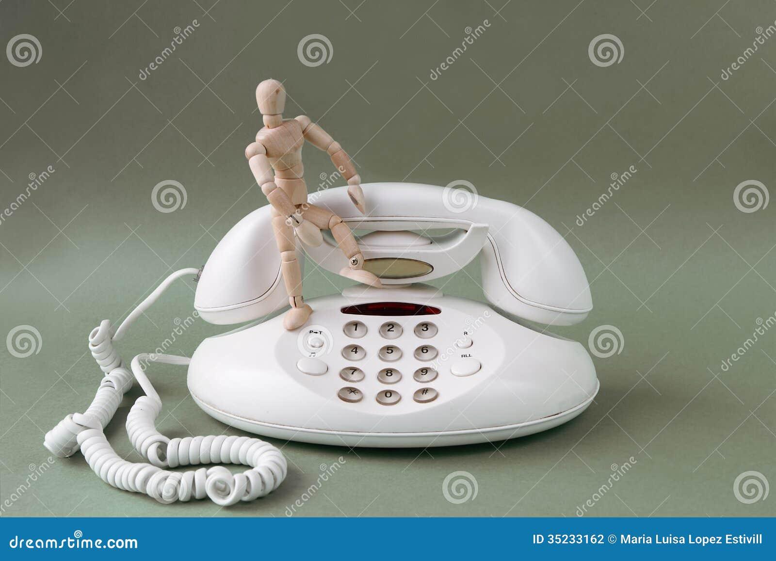 Telefono classico bianco