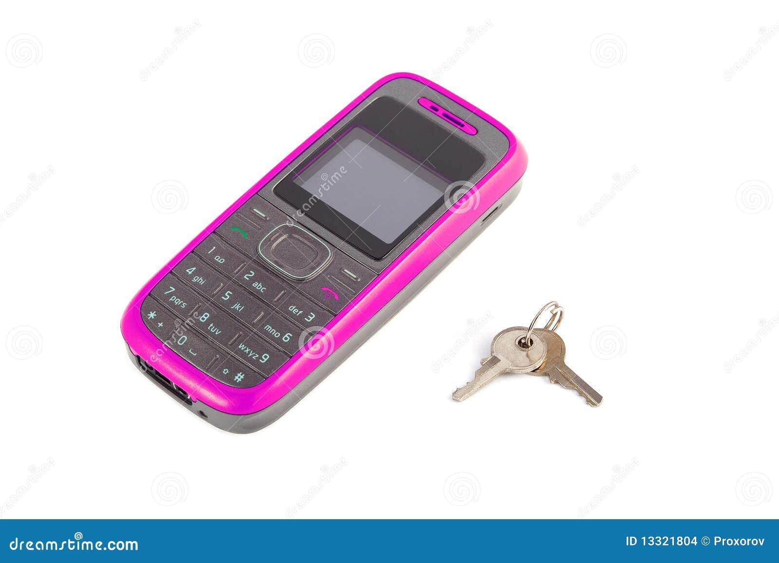 Telefono mobile con tasti fotografia stock immagine di for Mobile telefono