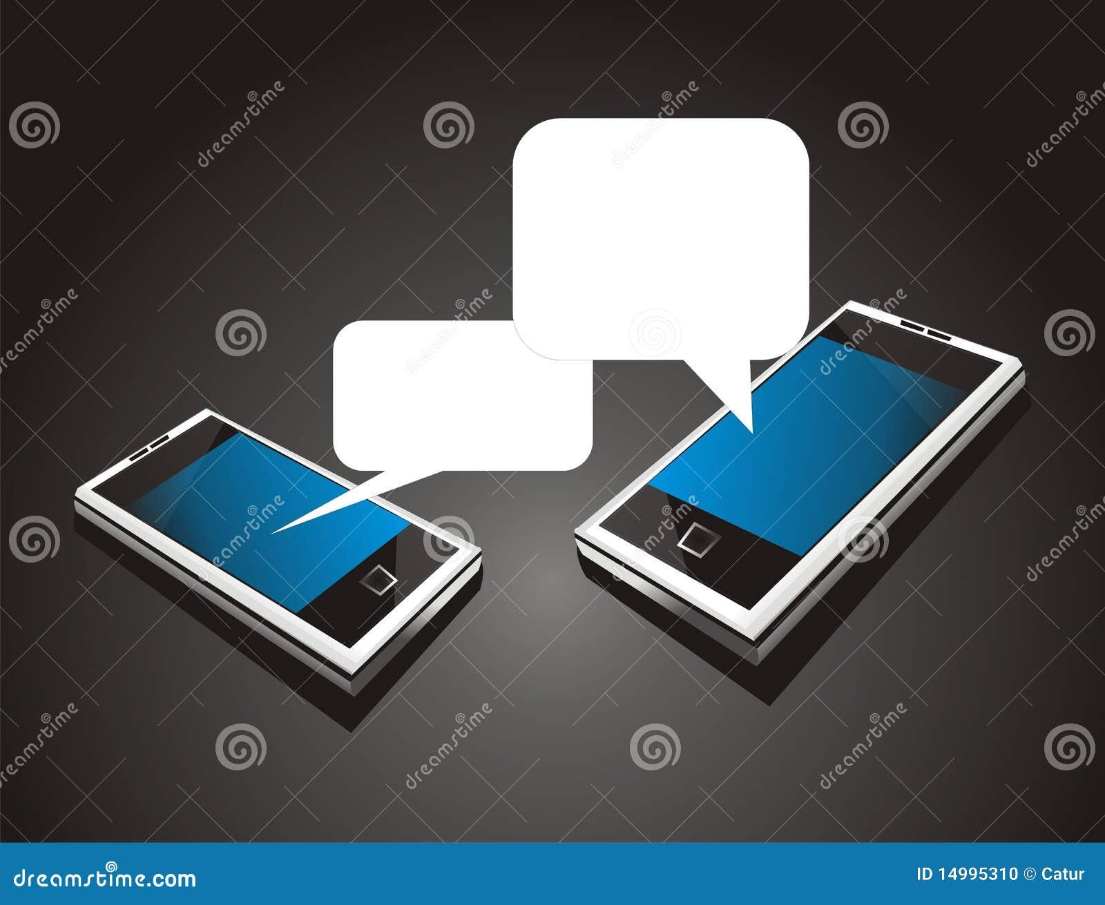 Telefono mobile freddo futuristico fotografia stock for Mobile telefono