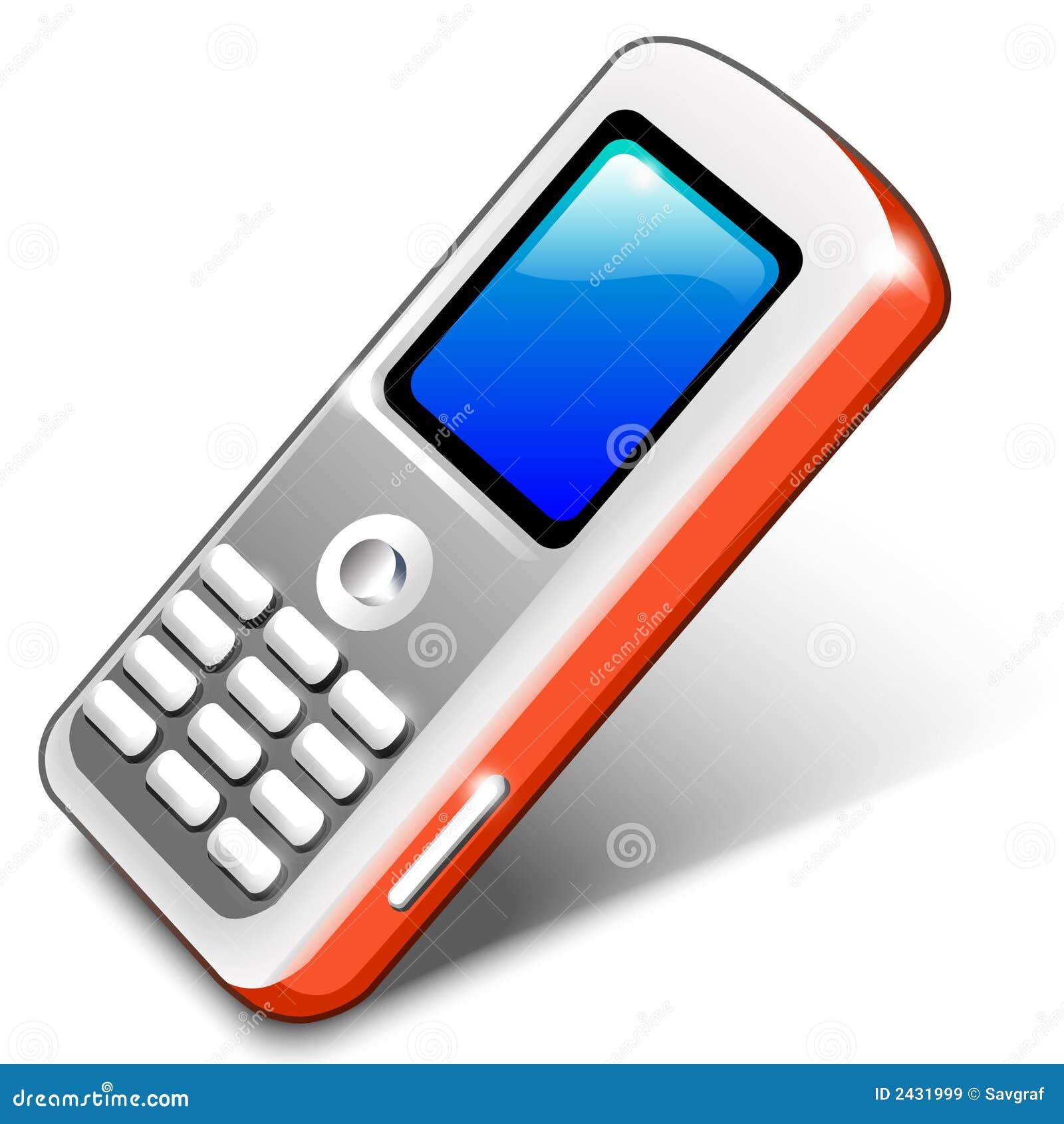 Telefono mobile rosso illustrazione vettoriale for Mobile telefono
