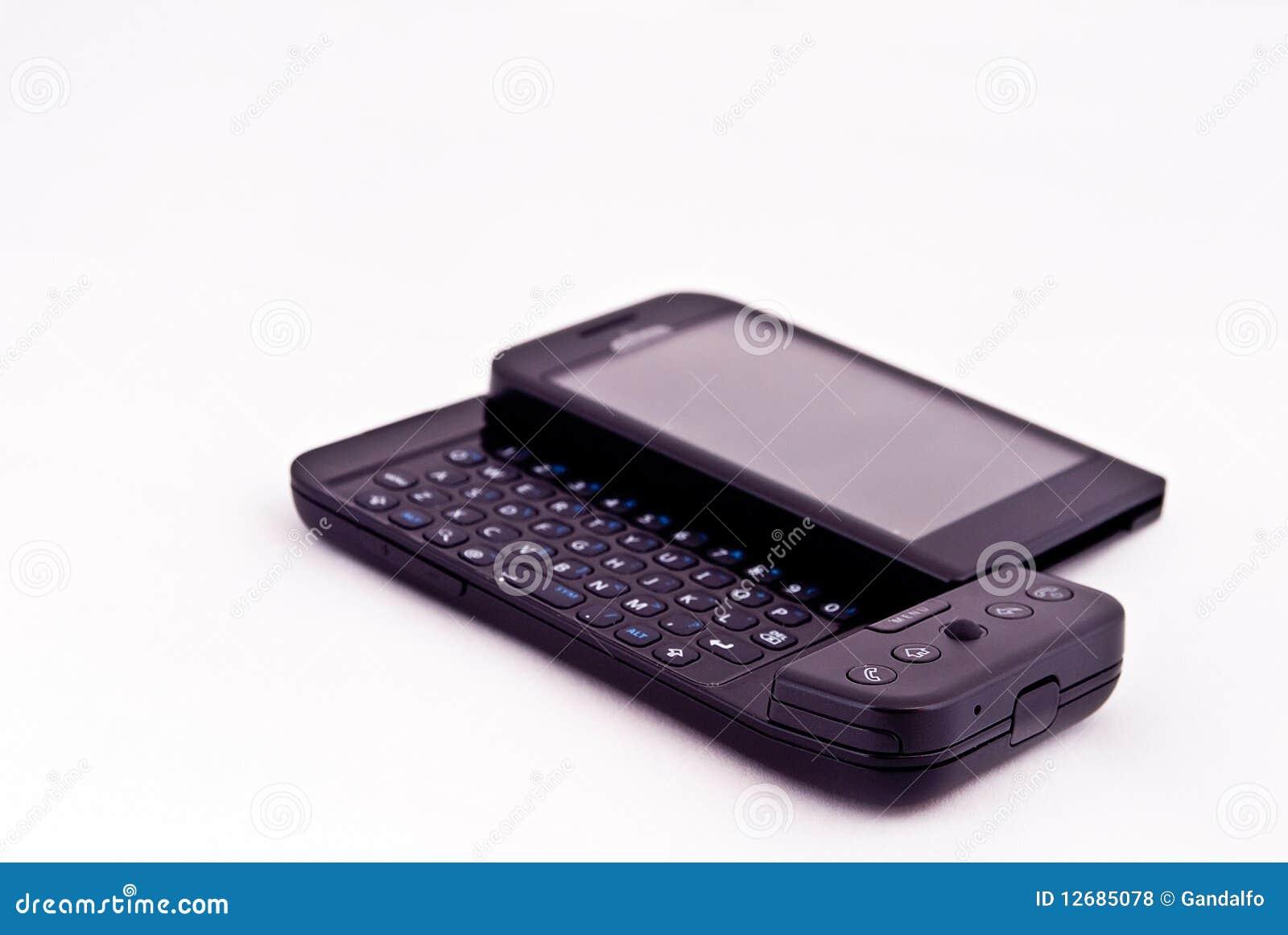 Telefono mobile su bianco fotografia stock immagine di for Mobile telefono