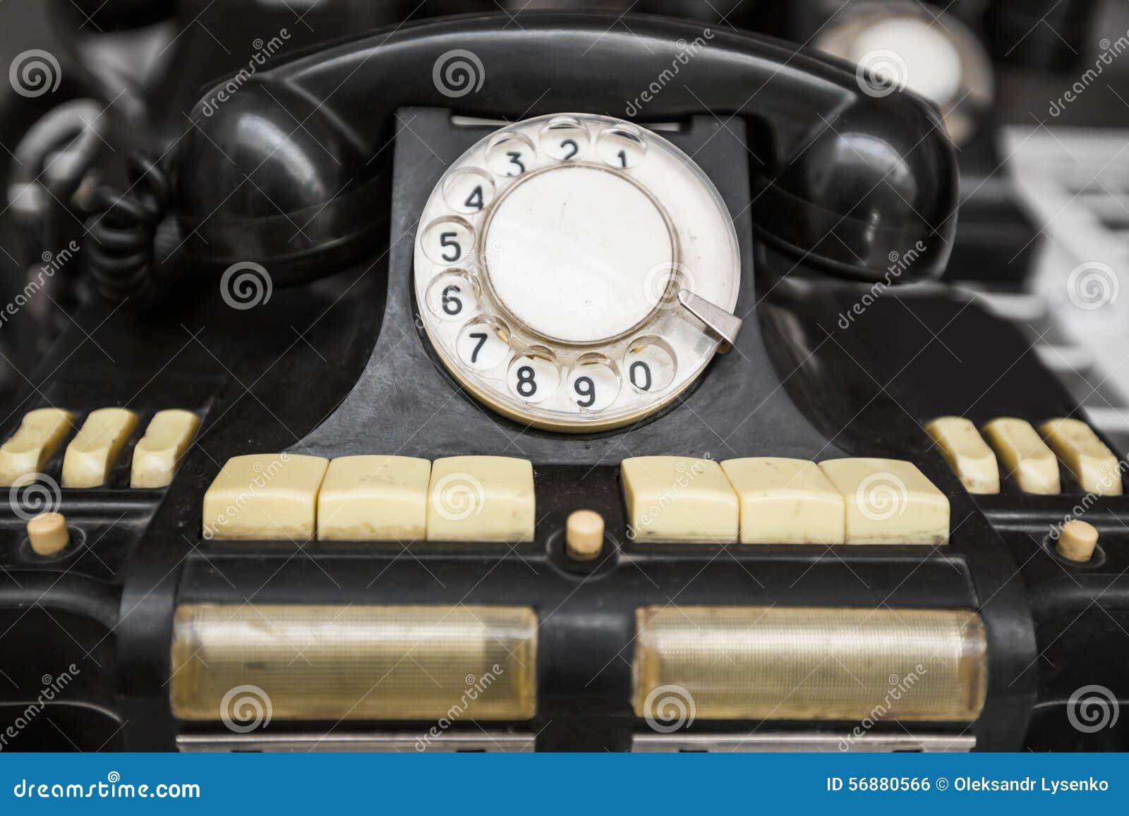 Telefono nero dell annata