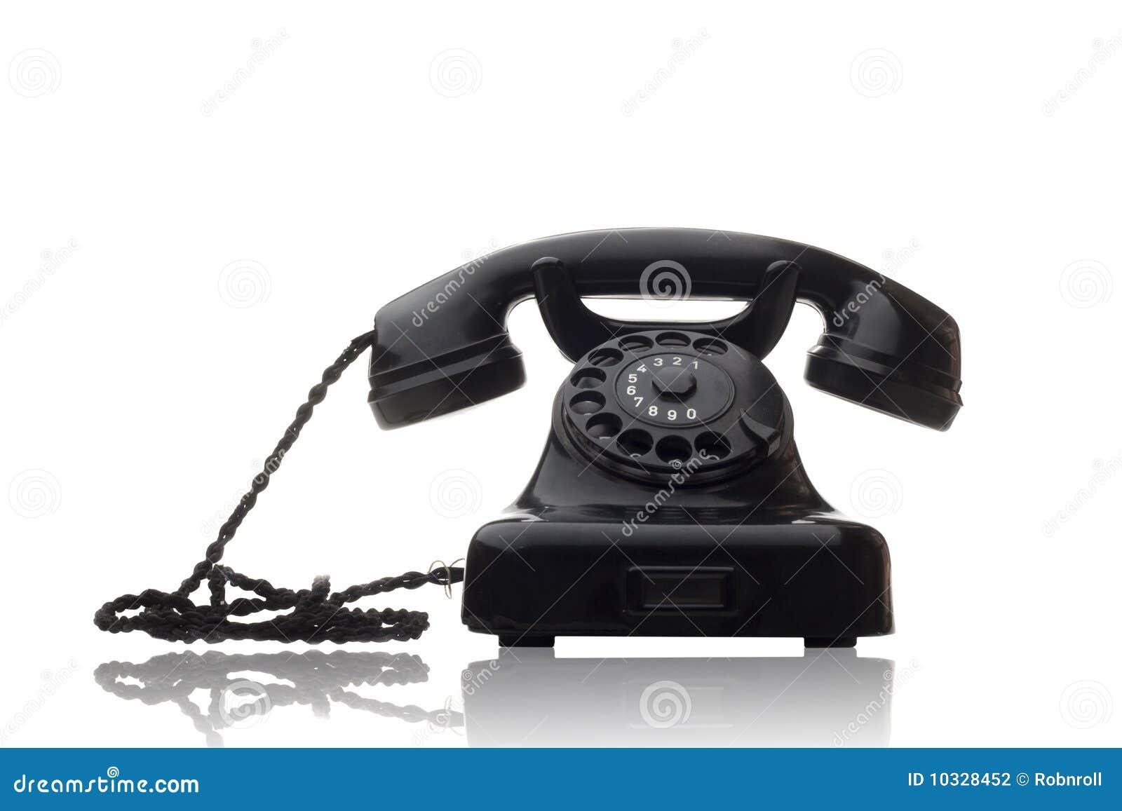 Telefono rotativo nero