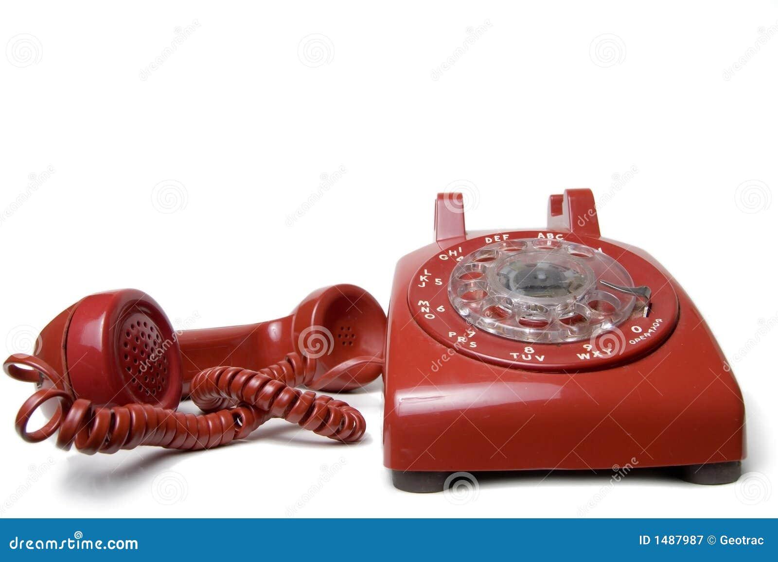 Telefono rotativo rosso