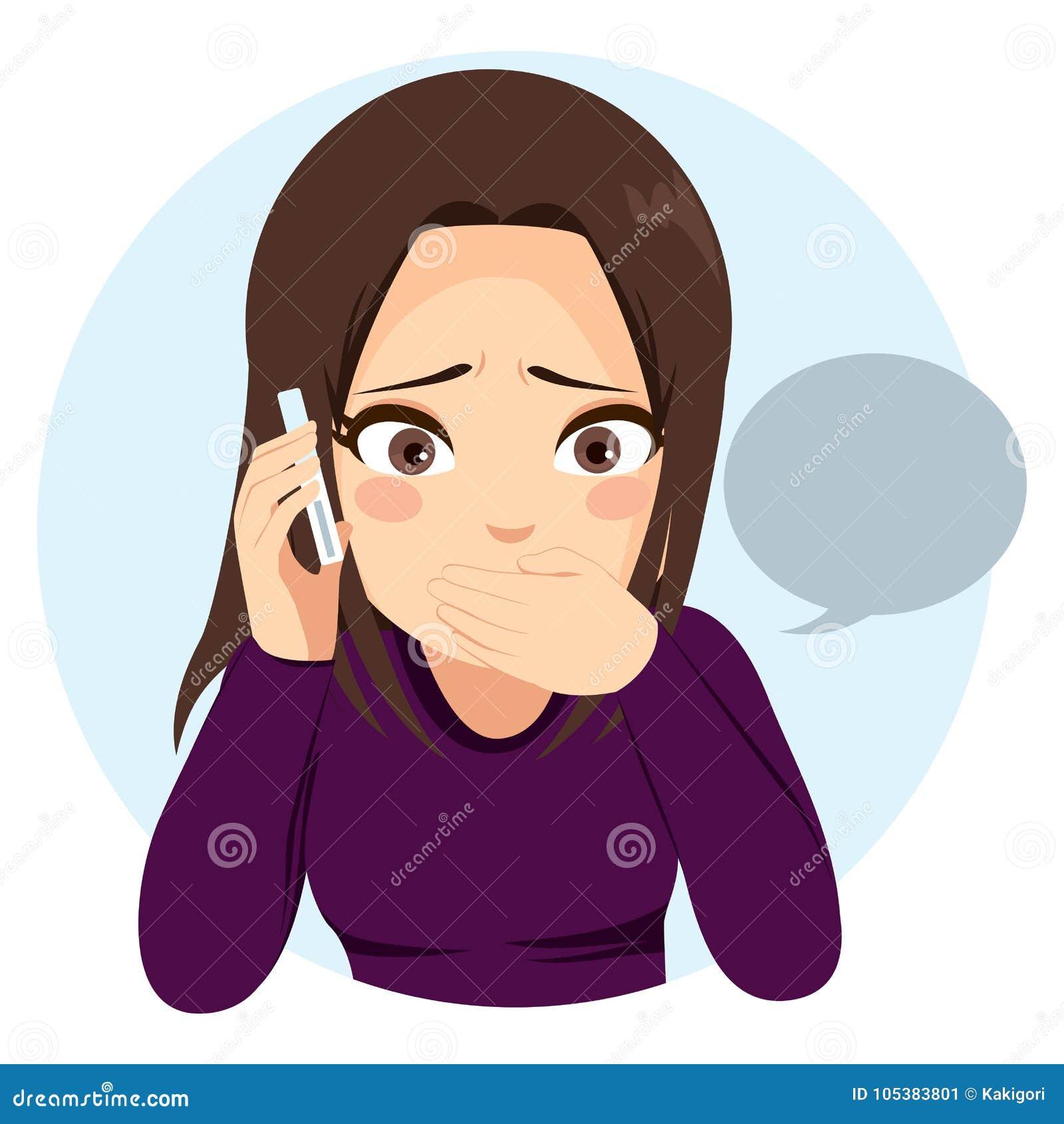 Telefono sorpreso della ragazza
