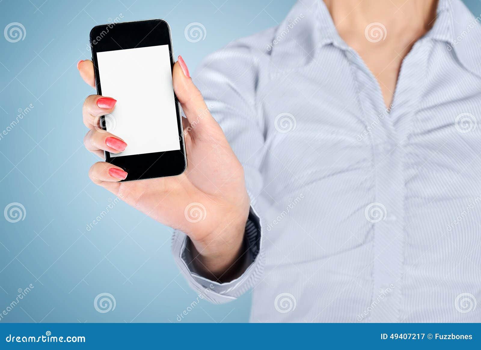 Download Telefonschirm stockbild. Bild von holding, gerät, bildschirmanzeige - 49407217