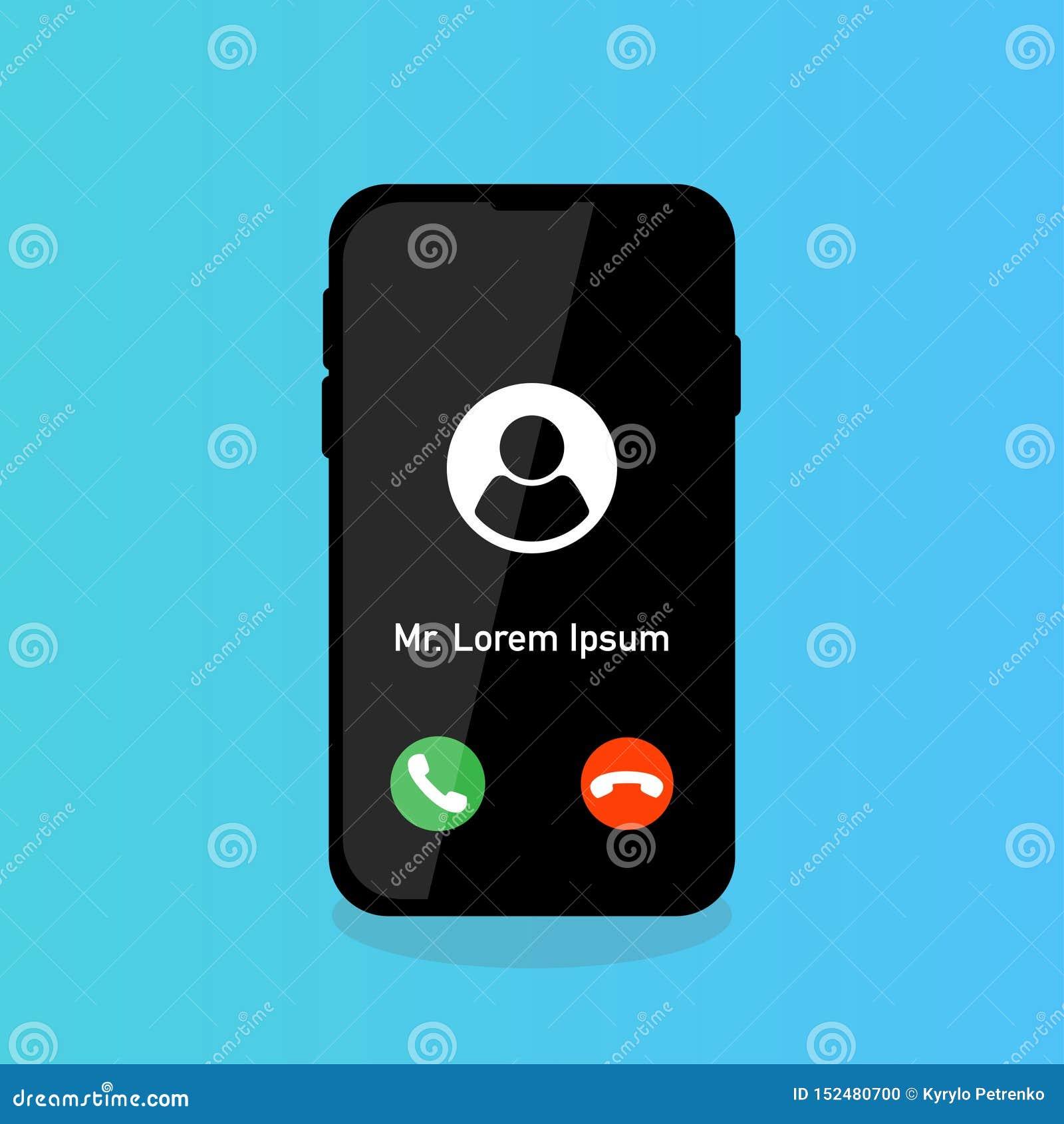 Telefonu dzwonić akceptuje odrzut z osoby ikoną