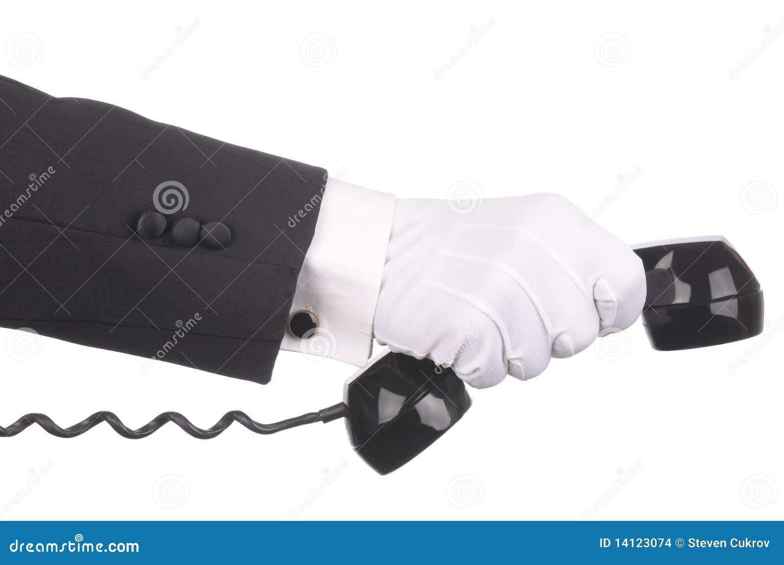 Telefonu kamerdynerski odbiorca