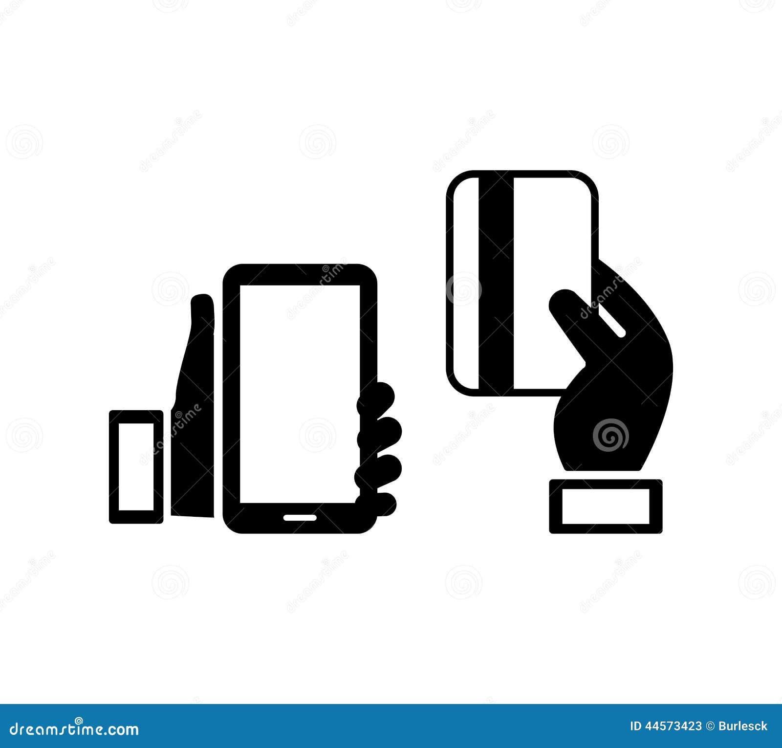 Telefonu komórkowego i kredytowej karty ikony