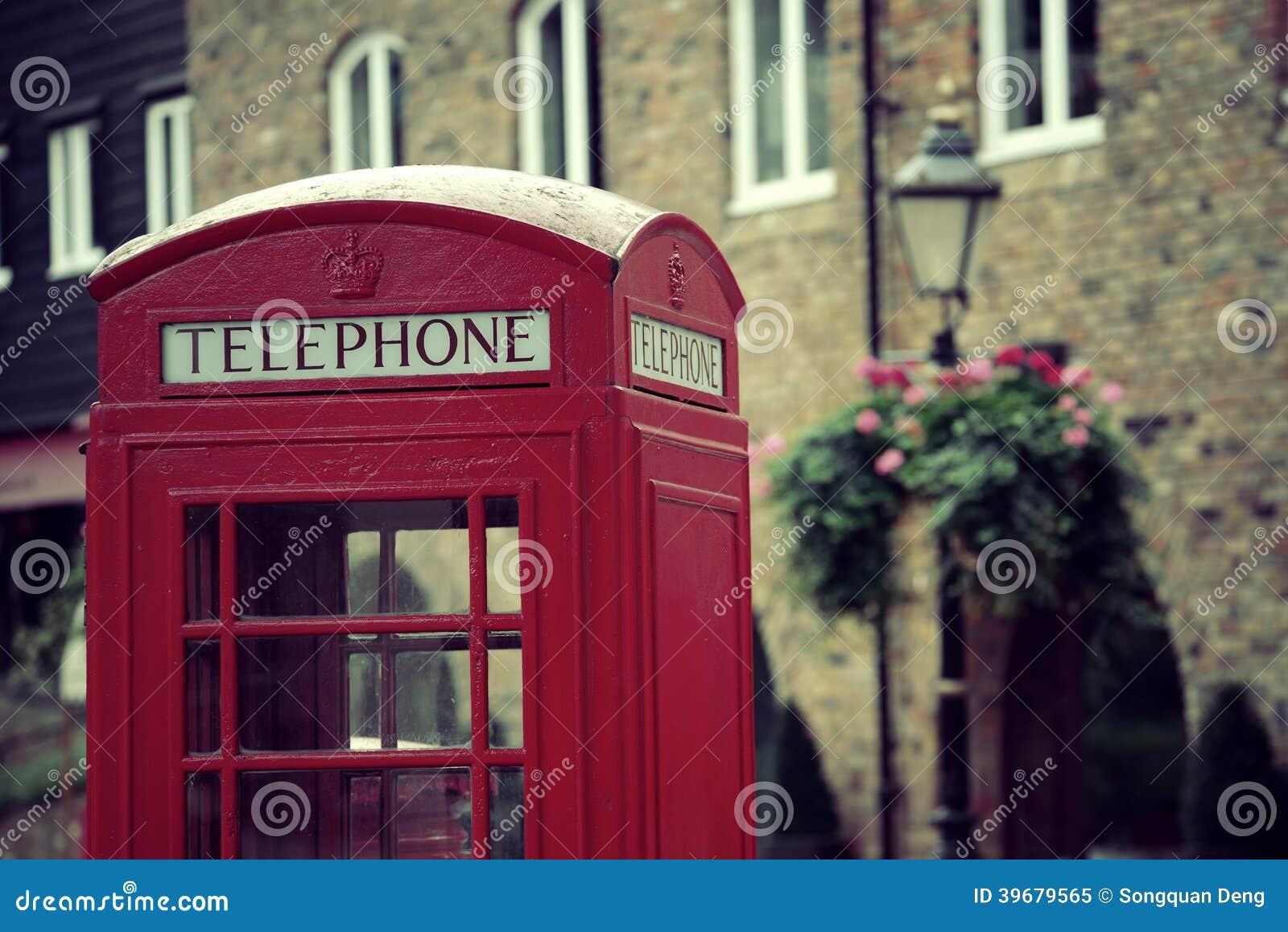 Telefonzelle Und Briefkasten Stockbild Bild Von Englisch Gebäude