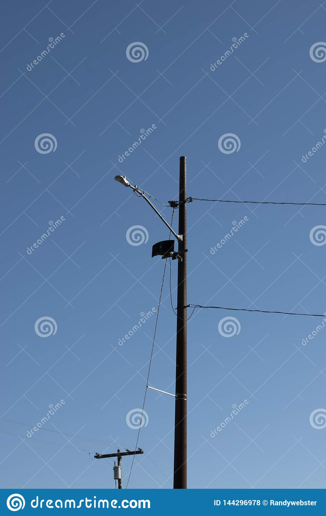 Telefoon Pool met een blauwe hemel