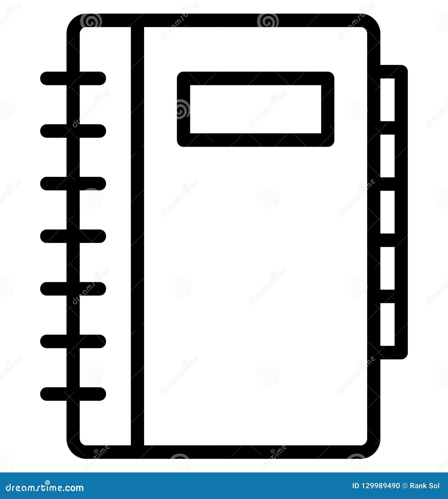Telefoonfolder, Gele gidslijn Geïsoleerd Vectorpictogram dat gemakkelijk kan worden gewijzigd of uitgeven