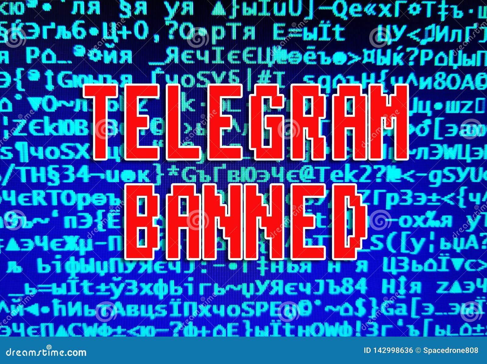 Telegram Chat Messenger Banned In Russia Illustration
