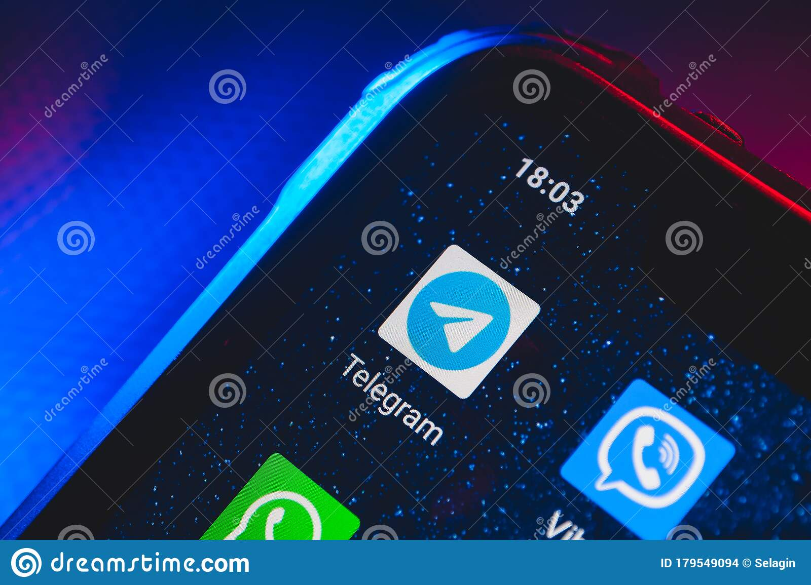Telegram Icon App On The Screen Smartphone Editorial Stock Image Image Of Close Messaging 179549094