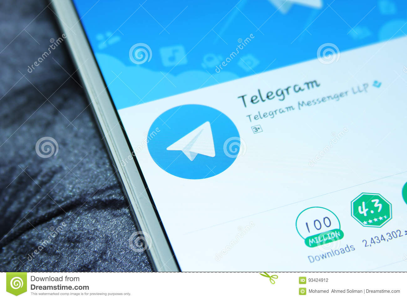 Telegram Messenger Mobile App Editorial Photography Image Of