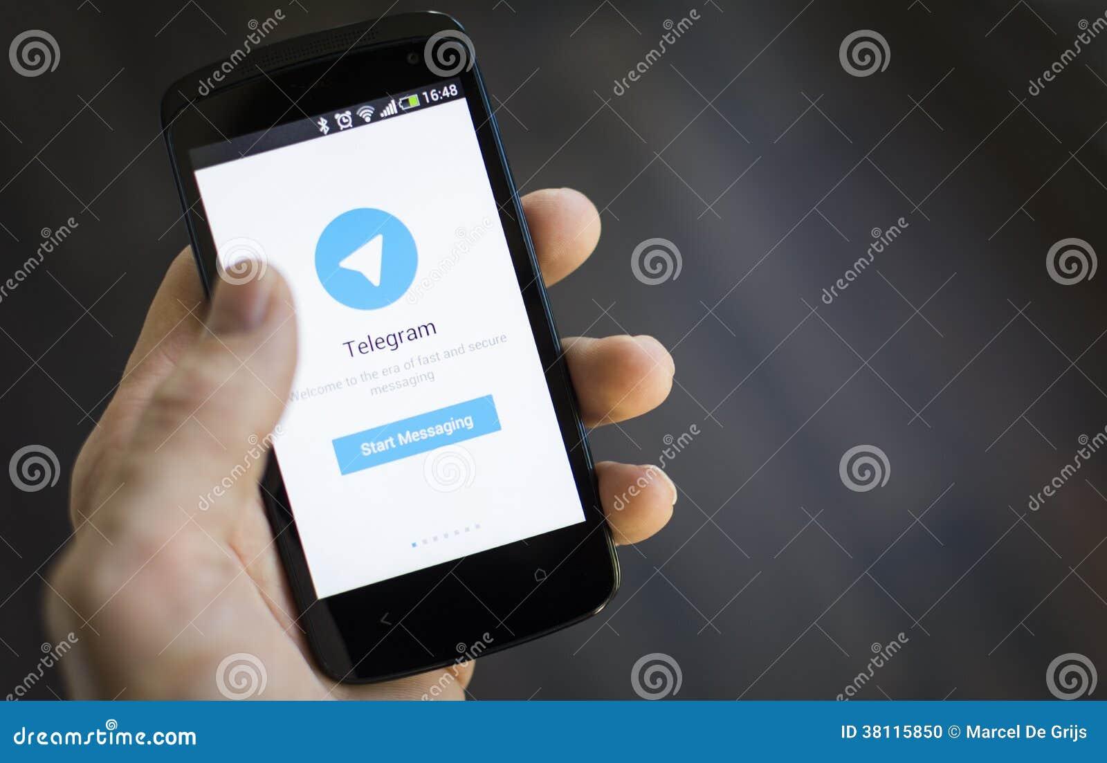 Telegram Mobile Application Editorial Image Image Of Send Messenger 38115850