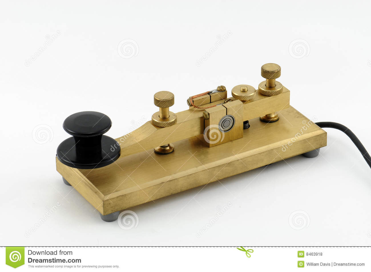 Telegraph Key - 3 stock photo  Image of knob, quality - 8463918
