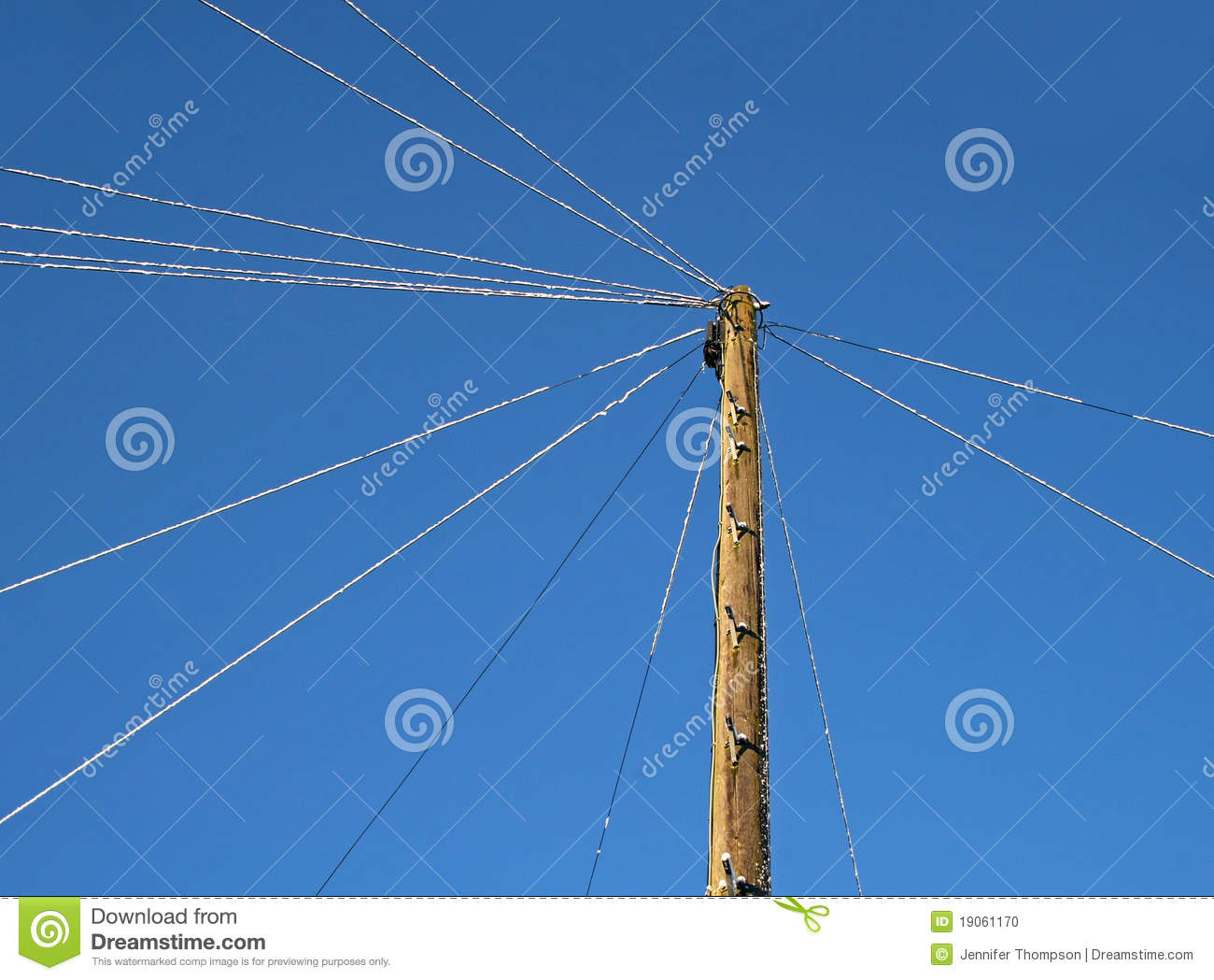telegraph post stock photo image 19061170 clipart telephone pole Electric Pole