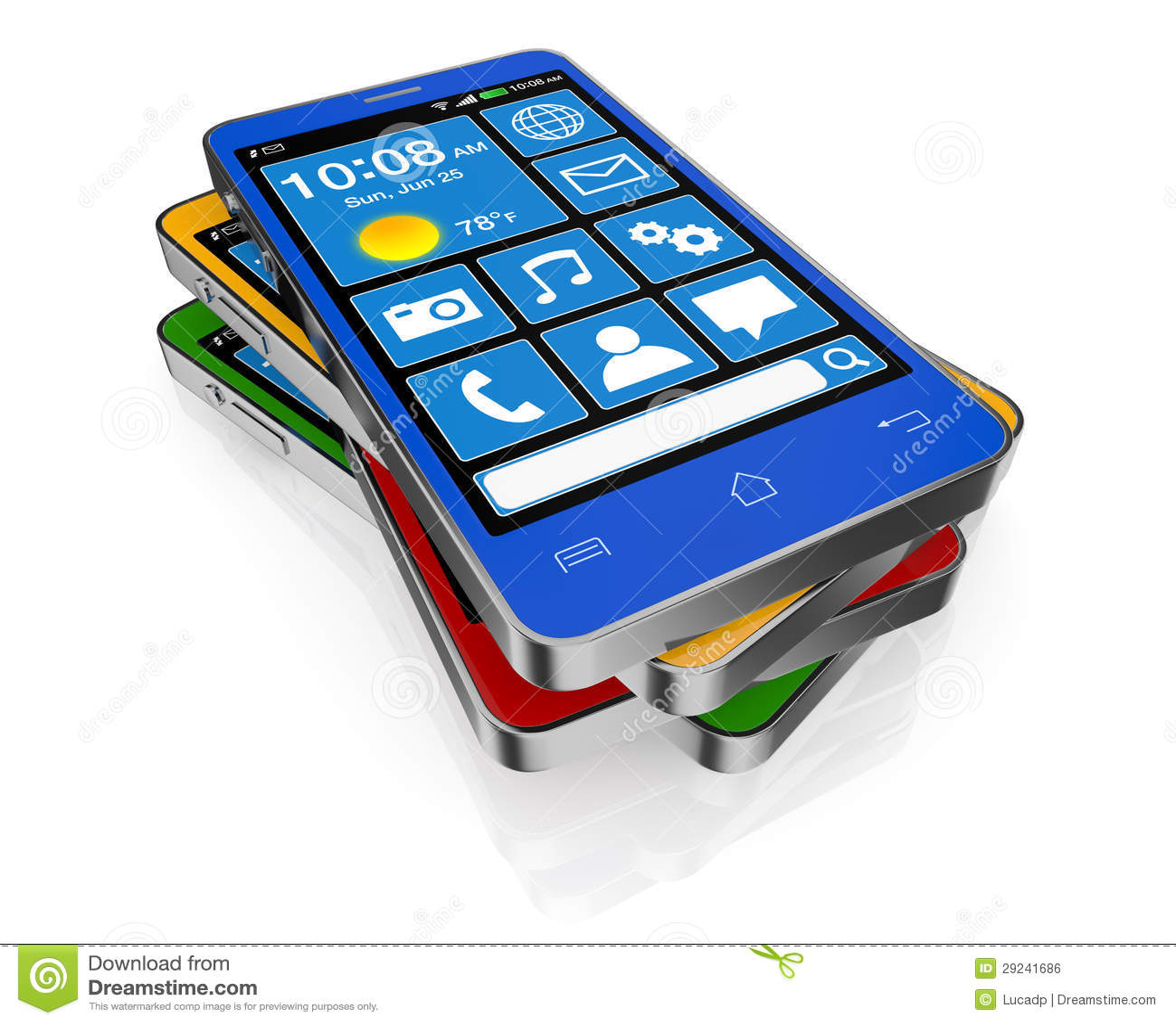Download Telemóvel ou smartphone ilustração stock. Ilustração de conexão - 29241686