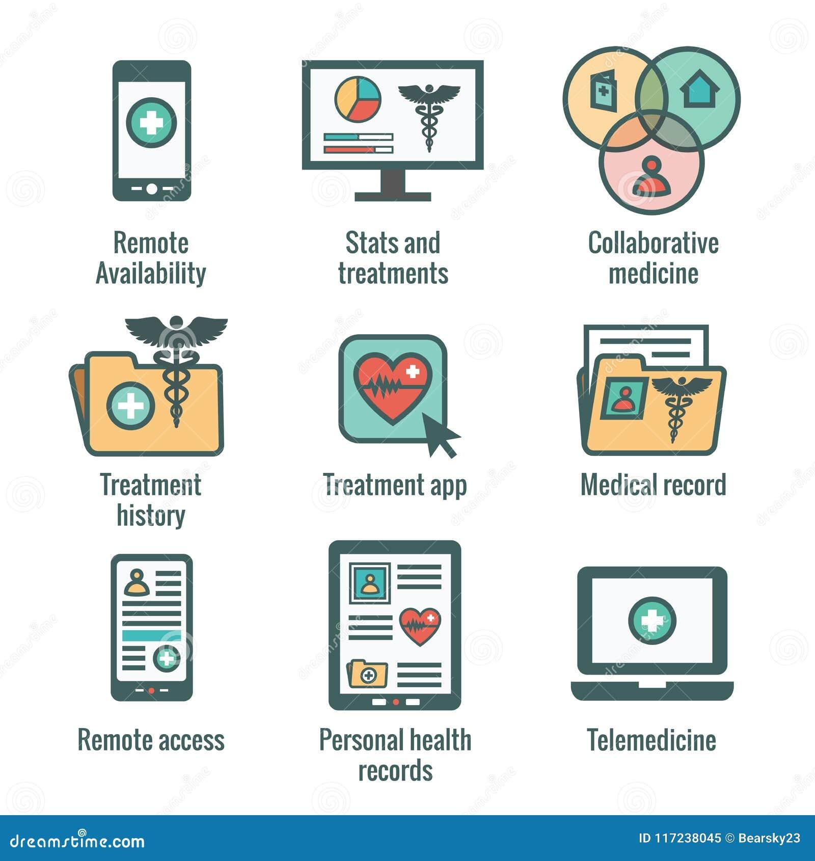 Telemedicine i dokumentacj medycznych ikona Ustawiająca z kaduceuszem, kartoteki fol