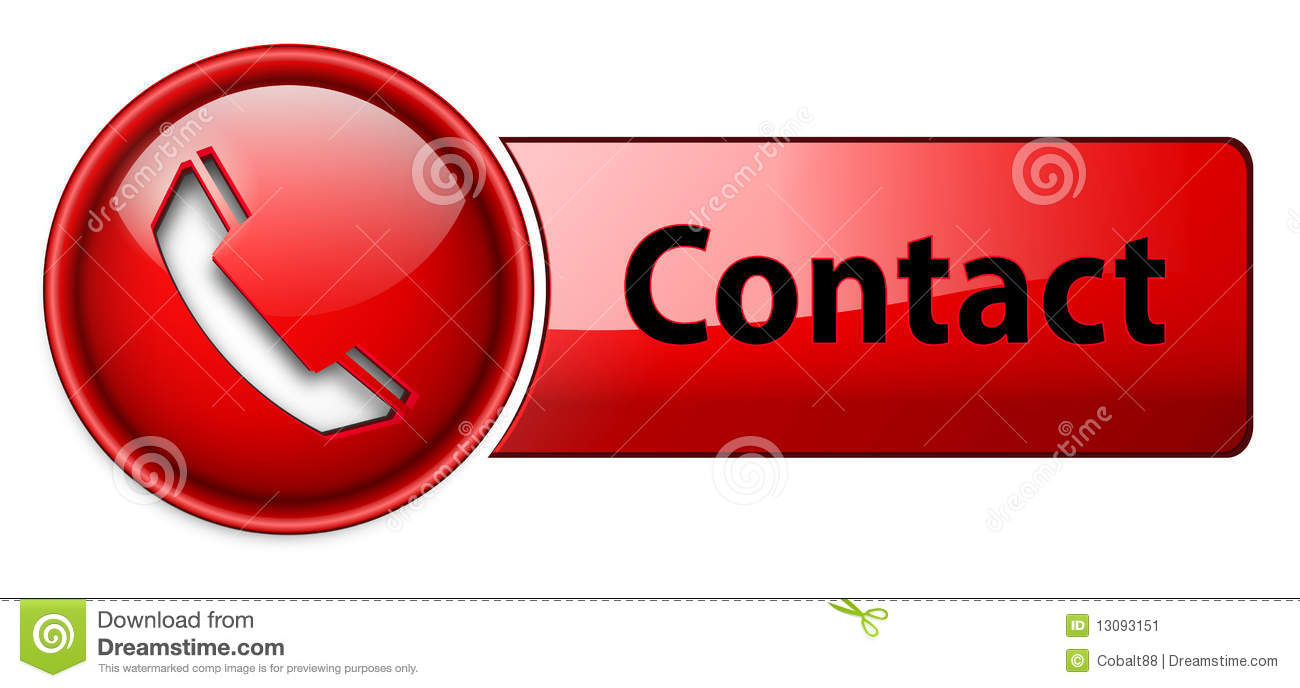 Telephone, Contact Icon Button. Stock Image - Image: 13093151