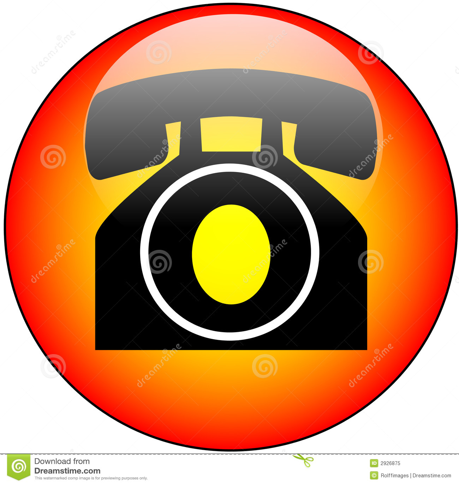 Telephone Glass Web Button
