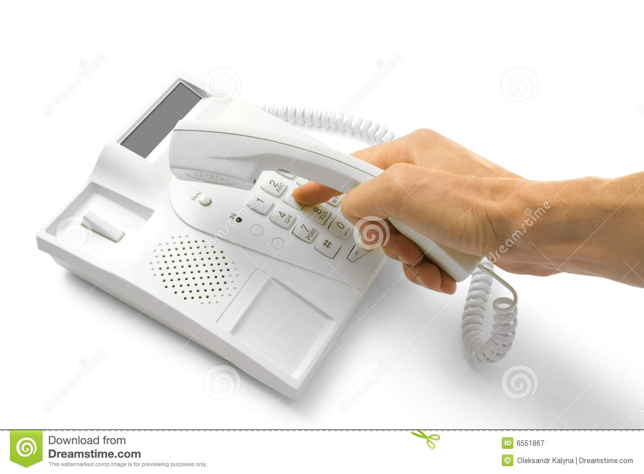 Telephone with hands