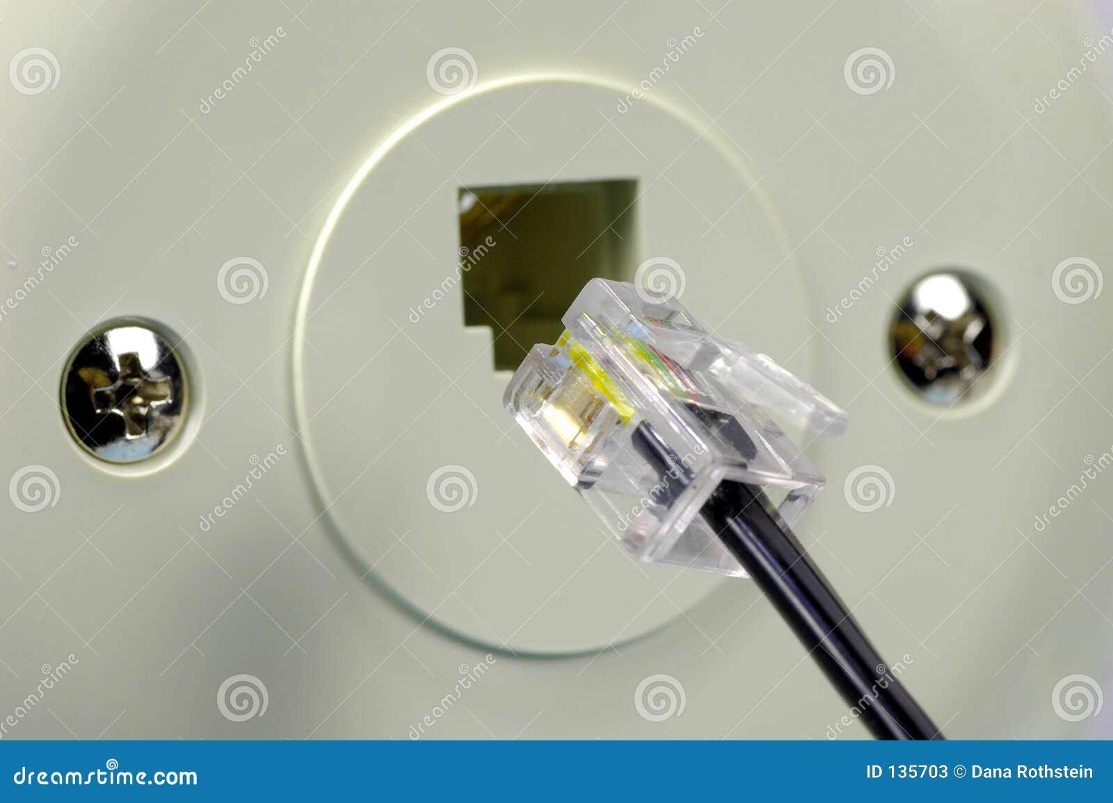 Telephone Jack stock image Image of technology