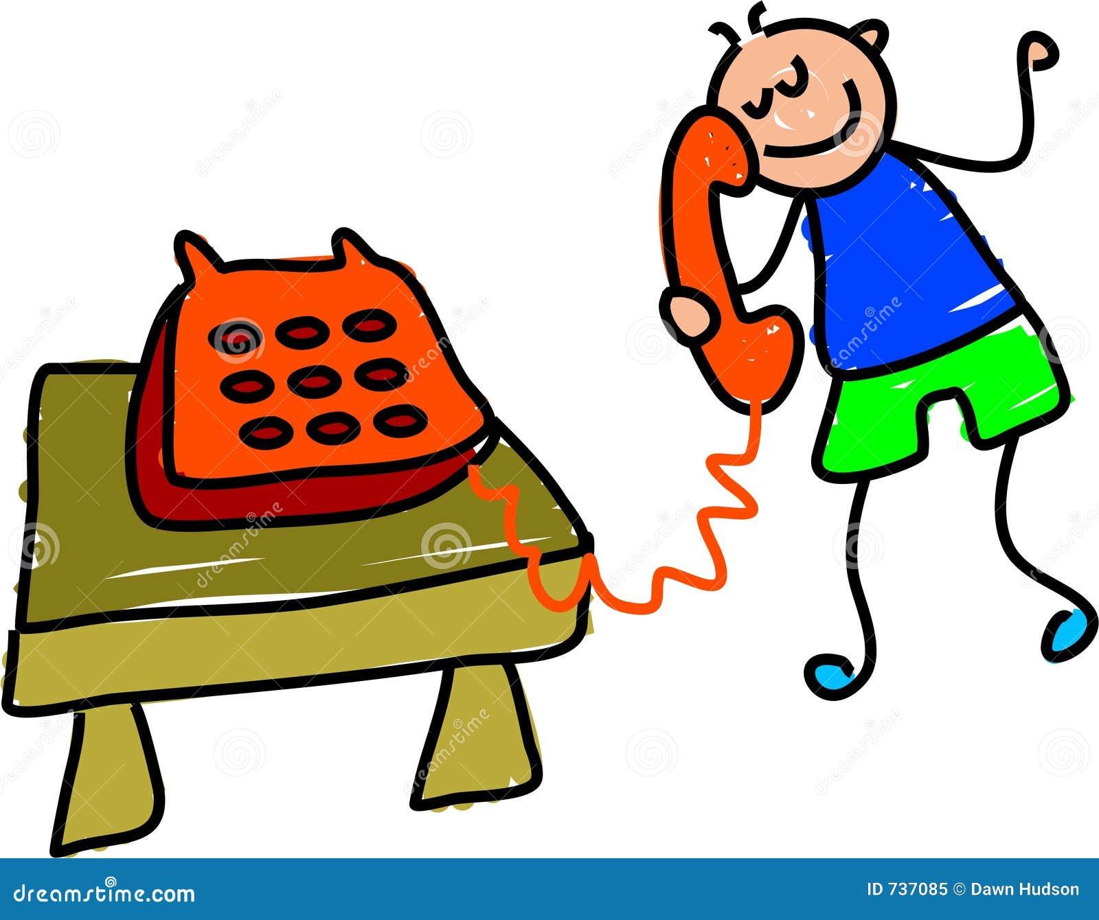 Telephone kid stock illustration. Illustration of objects ...