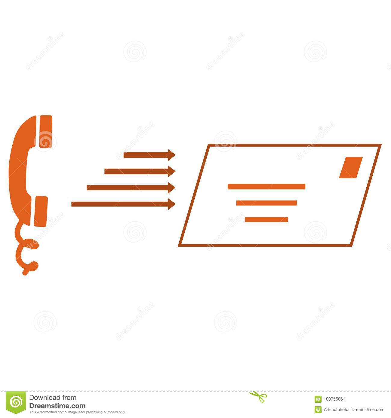 Telephone And Letter Symbols Stock Illustration Illustration Of