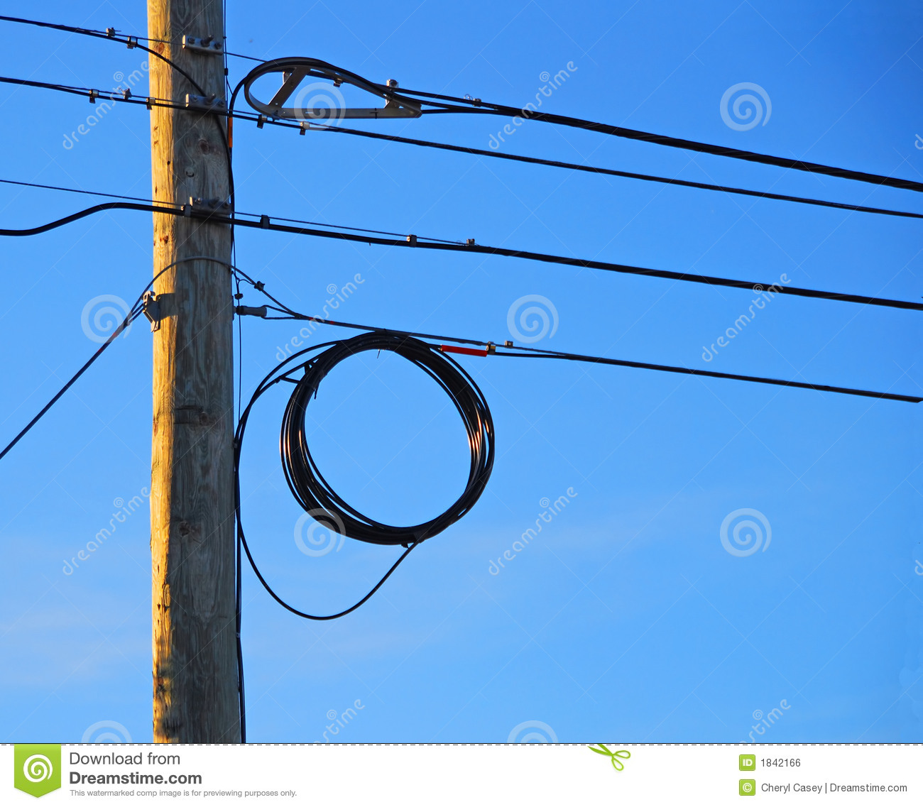 Telephone Pole and Wires stock photo. Image of pole, communication ...