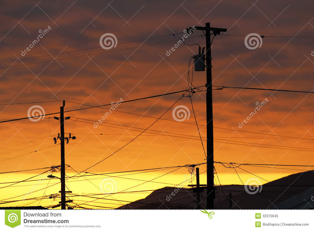 Telephone Pole and Wires at