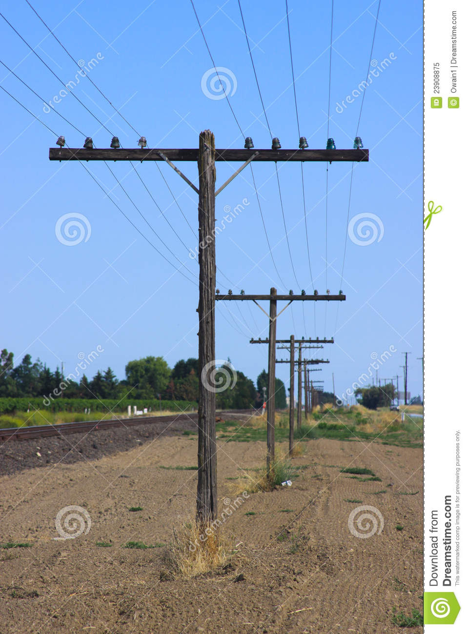 telephone poles beside train tracks royalty free stock Telephone Clip Art Man On a Telaphone Pole