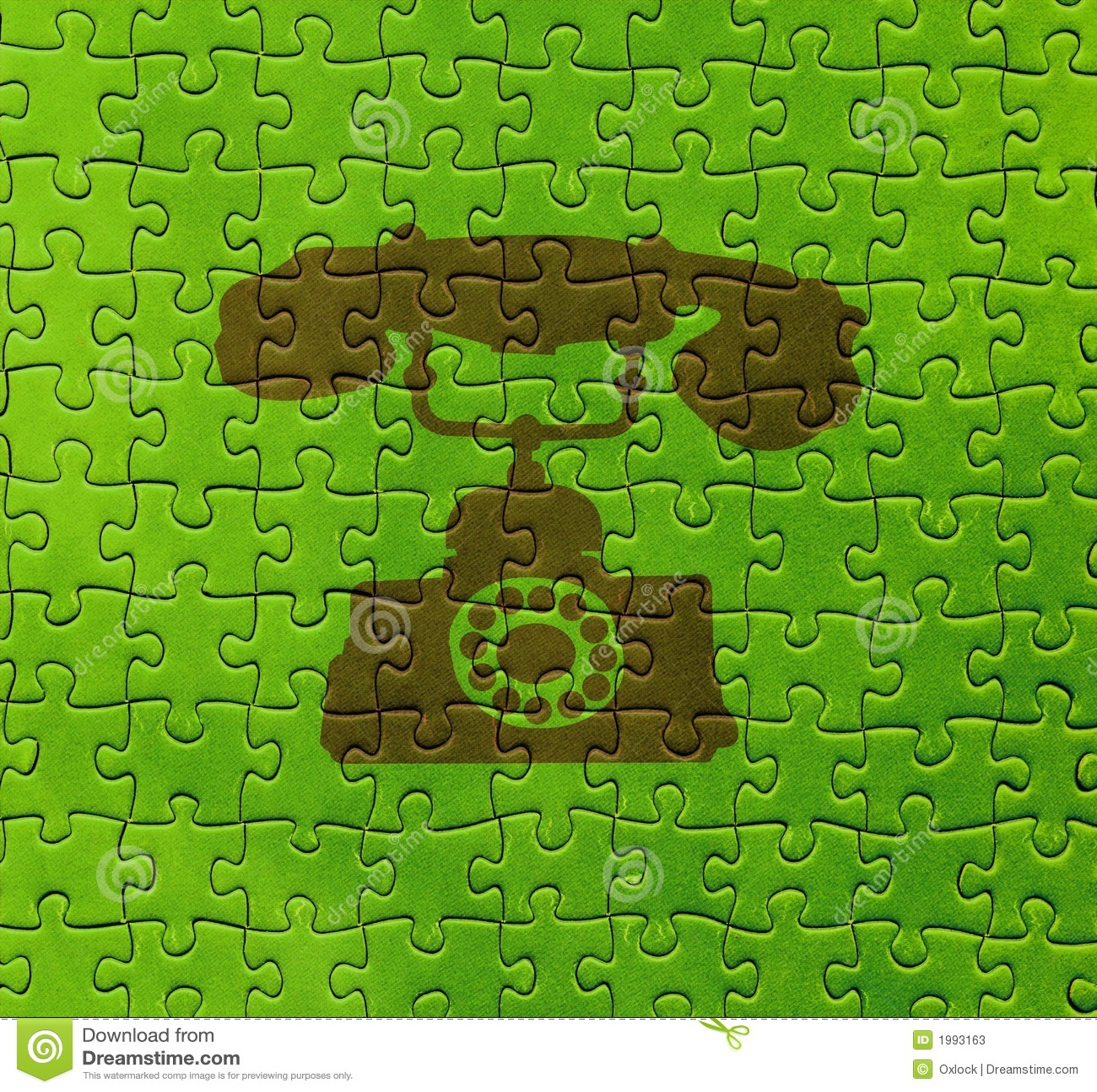 Telephone on puzzle texture