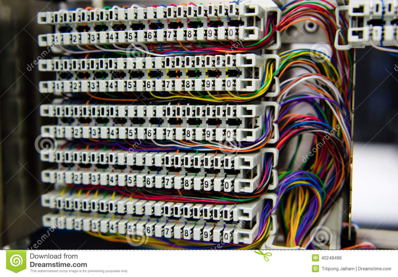 telephone switchboard panel and wiring stock photo image of rh dreamstime com  telephone patch panel wiring