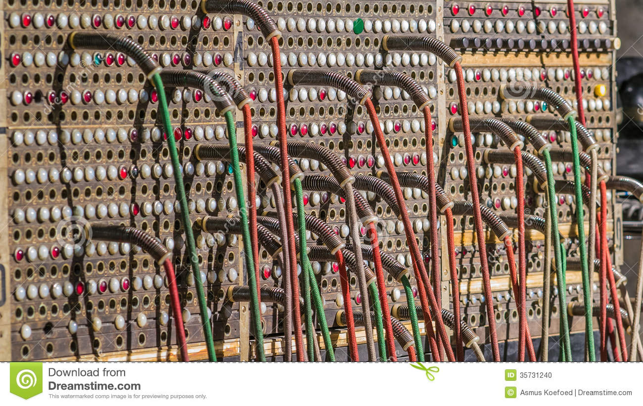 Telephone Switchboard Stock Photo - Image: 35731240